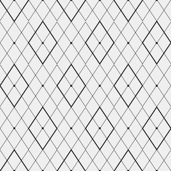Monochromatic pattern made with rhombus