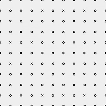 Monochromatic pattern with crosses and circles