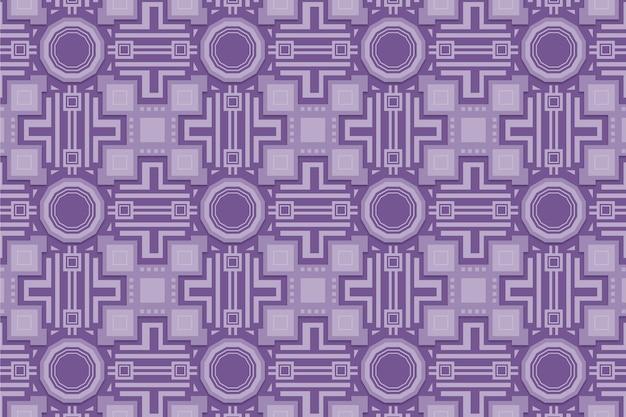 図形と単色の紫のパターン