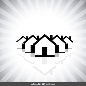 Monochromatic real state logo