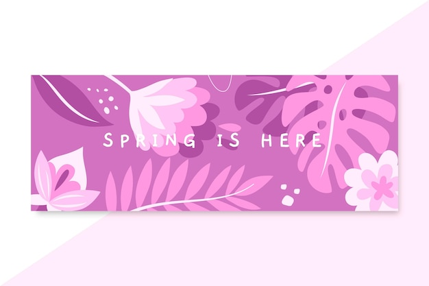 Monochromatic spring facebook cover