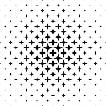 Монохроматический звездный узор - абстрактный векторный графический дизайн