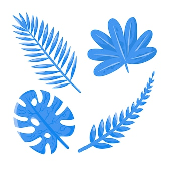 Monochromatic tropical leaves concept