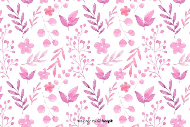 단색 수채화 꽃 배경