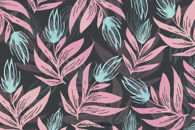 Monochromatic watercolor floral background