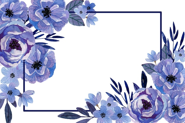 Monochromatic watercolor flowers background