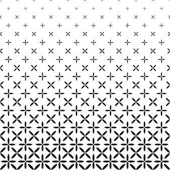 Monochrome abstract ellipse pattern background - black and white geometrical vector graphic
