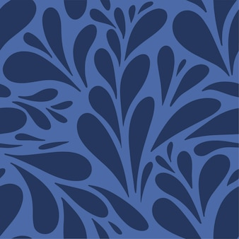 부드러운 잎 모양으로 흑백 추상 꽃 원활한 패턴 멋진 겨울 서리가 내린 배경
