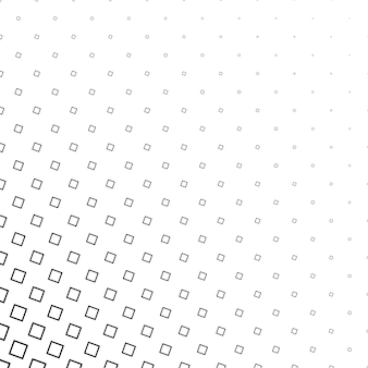 Monochrome abstract square pattern background - vector design