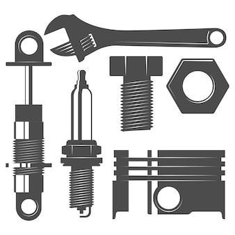 Monochrome auto parts set