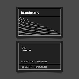 Монохромный шаблон визитной карточки