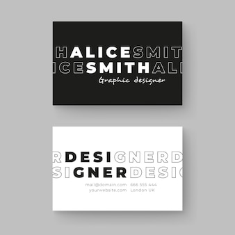 Monochrome business card template