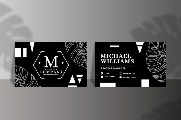 Monochrome business card template