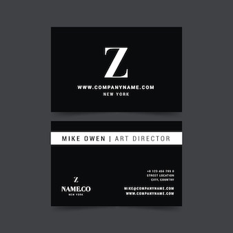 Monochrome business card theme