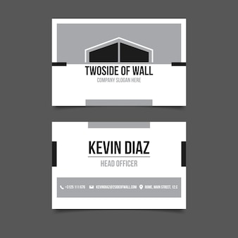 Monochrome business cards collection