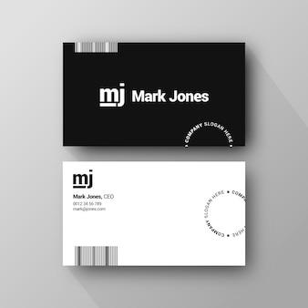 Monochrome business cards concept