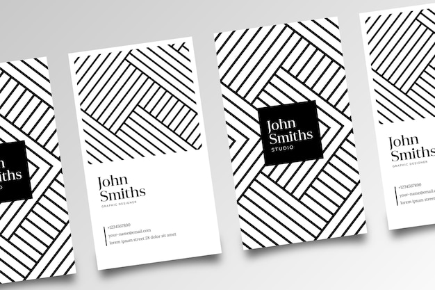 Monochrome business cards concept
