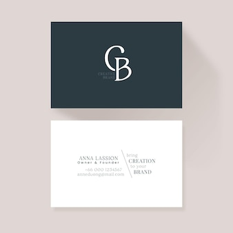 Monochrome business cards pack