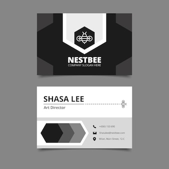 Monochrome business cards set