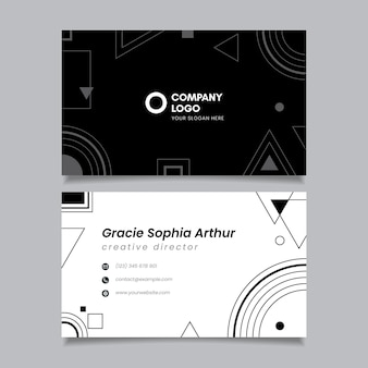 Monochrome business cards template pack