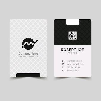 Монохромный шаблон визитки