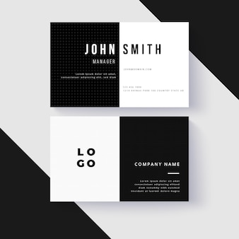 Monochrome business cards template