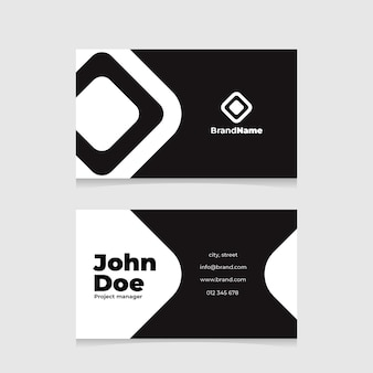 Monochrome business cards
