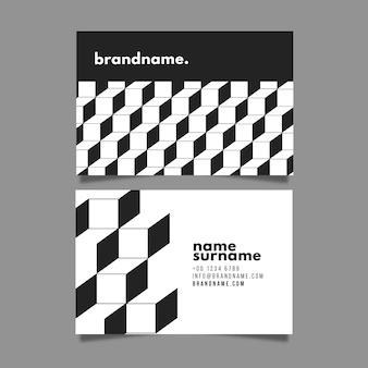 Monochrome business cards