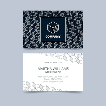 Monochrome business cards Free Vector