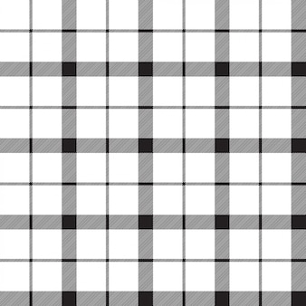 Monochrome classic tartan seamless pattern