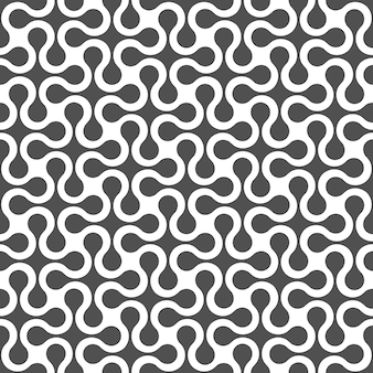 Monochrome curved geometric seamless pattern