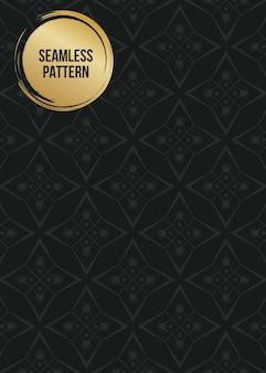 Monochrome geometric pattern background set.
