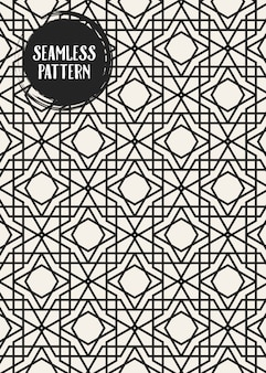 Monochrome geometric pattern set.