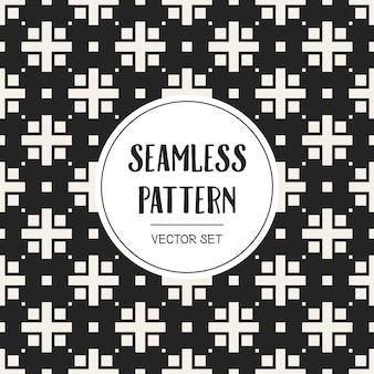 Monochrome geometric pattern