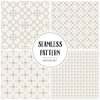 Monochrome geometric seamless pattern background.
