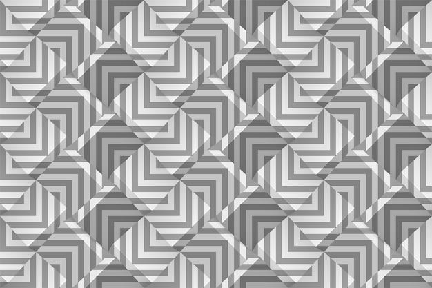 灰色の帯とモノクロの幾何学的なシームレスパターン。