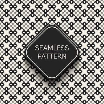 Monochrome geometric seamless pattern