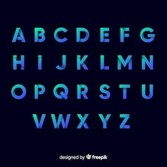 Monochrome gradient typography