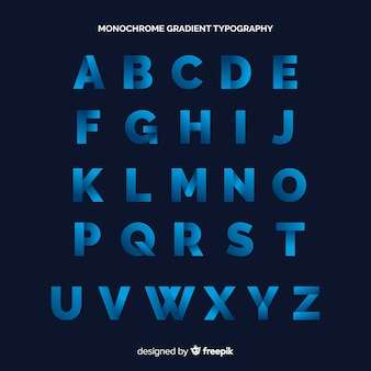 Monochrome gradient typography