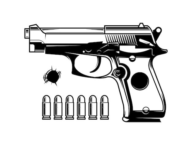 Монохромный пистолет