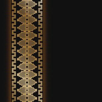 Monochrome halftone border design