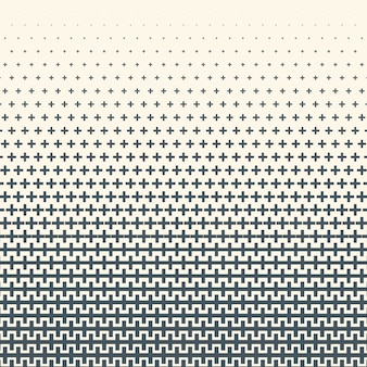 Монохромный полутонов градиент с крестами текстуры. фон иллюстрации