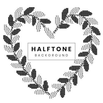 Monochrome halftone on white background