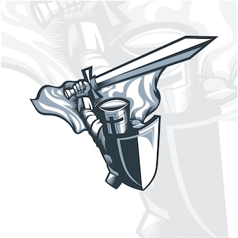モノクロの騎士は剣を振る。