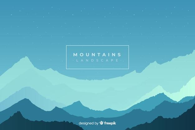 산 사슬의 흑백 풍경