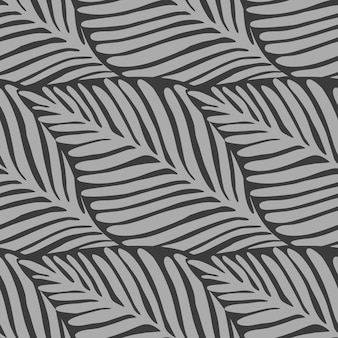 Monochrome leaves jungle tropical pattern