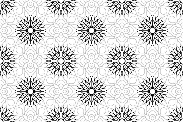흑백 만다라 원활한 패턴
