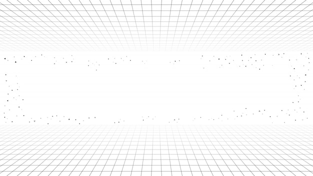 Monochrome minimal retro line background, style futuristic synth retro wave