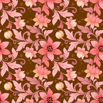 Монохромный старый розовый цвет цветы бесшовные модели.