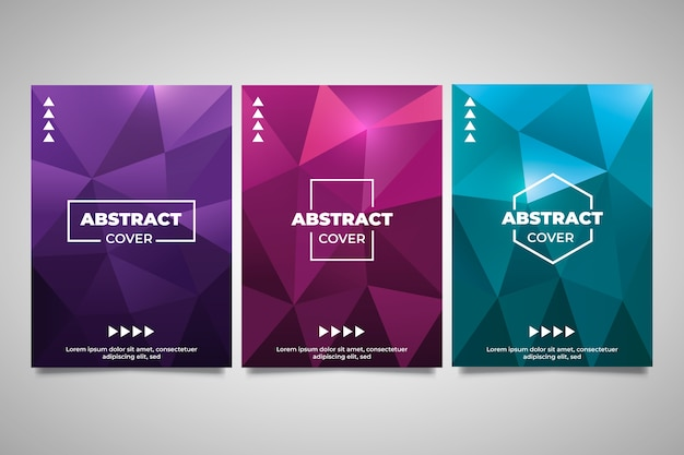 Monochrome poly abstract geometric cover collection